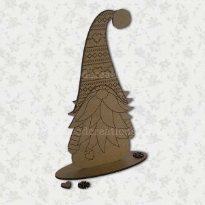 Swedish Inspired Wooly Tomte. Made from 2.5mm Premium Grade MDF