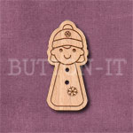 Christmas Couple (Female) Button