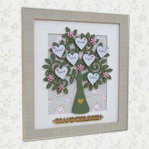 Family Tree with grandchildren word