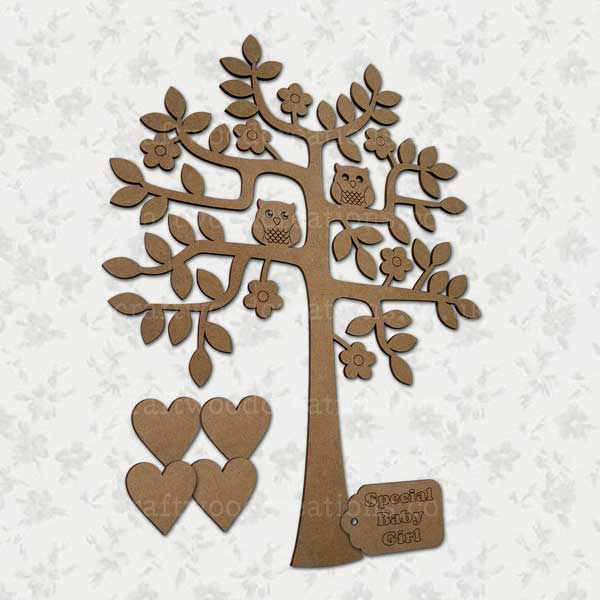 "Family Tree and ""Special Baby Girl"" Tag"