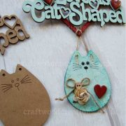 Love is Cat Shaped Sign Sample