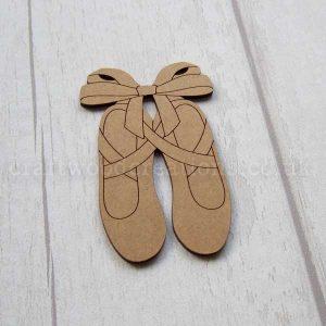 Ballet Shoes MDF Shape