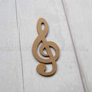 Treble Clef MDF Shape