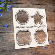 Chipboard Barbed Wire Frames