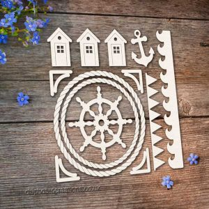 Chipboard Beach Set 1