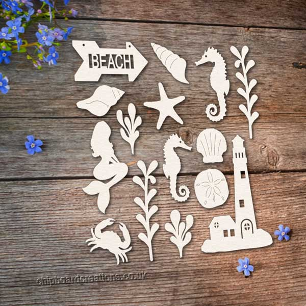 Chipboard Beach Set 2