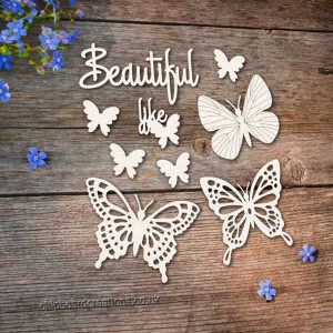Chipboard Butterfly Set