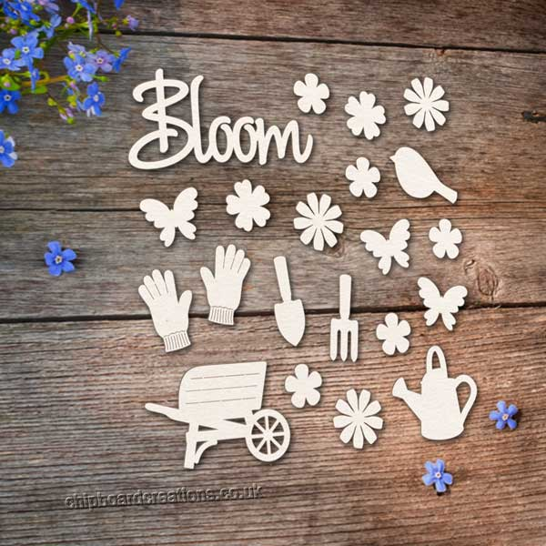 Chipboard Garden in Bloom Set