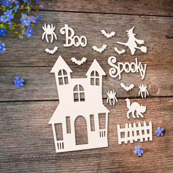 Chipboard Halloween Set
