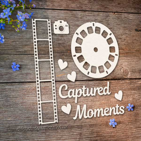 Chipboard Captured Moments Film Strip Set