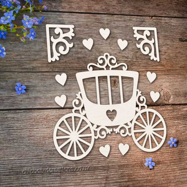 Chipboard Princess Carriage