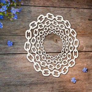 Chipboard Round Chain Frame