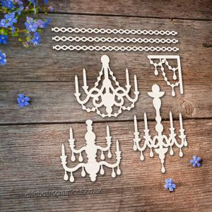 Chipboard Chandelier Set