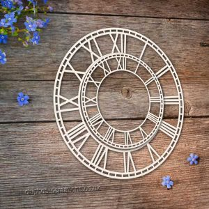 Chipboard Clock Faces