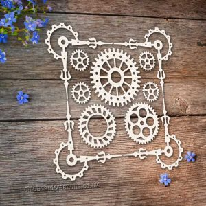 Chipboard Cog Corners Set
