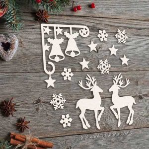 Chipboard Christmas Deer