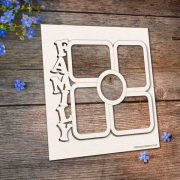 Chipboard Family Frame