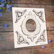 Chipboard Frame Flourish Corners