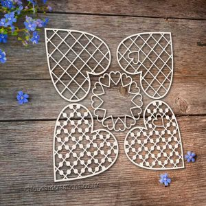 Chipboard Hearts