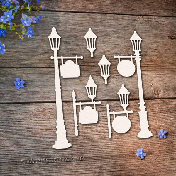 Chipboard Lamp Posts 2