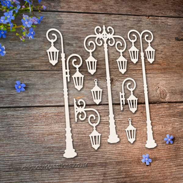Chipboard Lamp Posts 4
