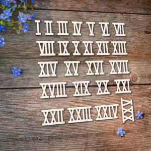 Chipboard Roman Numerals