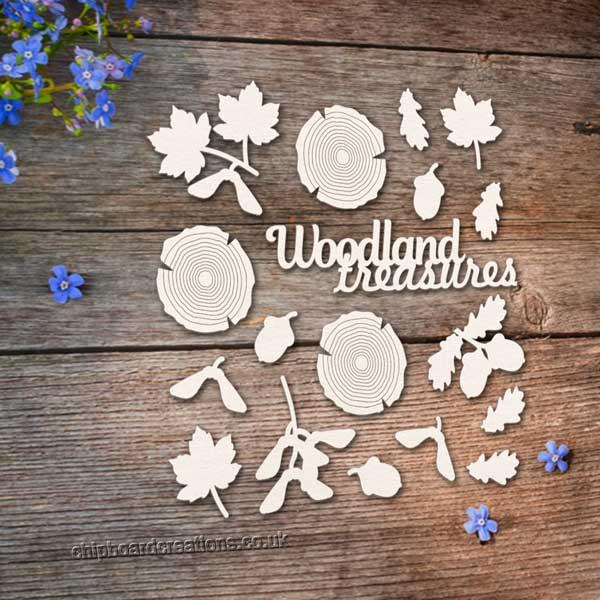 Chipboard Woodland Treasures