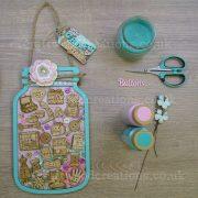 Mdf Button Jar craft buttons sample