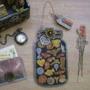 Mdf Button Jar steampunk sample