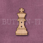 1283 Chess Piece Button-King