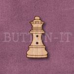 1283 Chess Piece Button-Queen