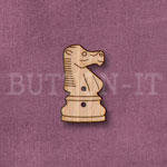 1286 Chess Piece Button-Knight