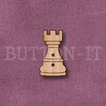 1287 Chess Piece Button-Castle