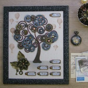 Steampunk Family Tree Sample