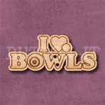1292 I Love Bowls Button