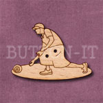 Bowls Player Female Button