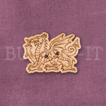 Welsh Dragon Button