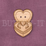 Heart Ring Box Button