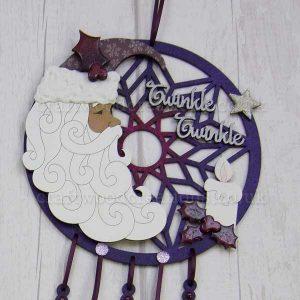 "Seasonals Collection Xmas Dream Catcher ""Santa Twinkle Twinkle"""