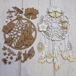 "Seasonals Collection Xmas Dream Catcher ""Joyeux Noel"""