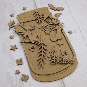 Seasonals Collection Xmas Fairy Jar Plaque