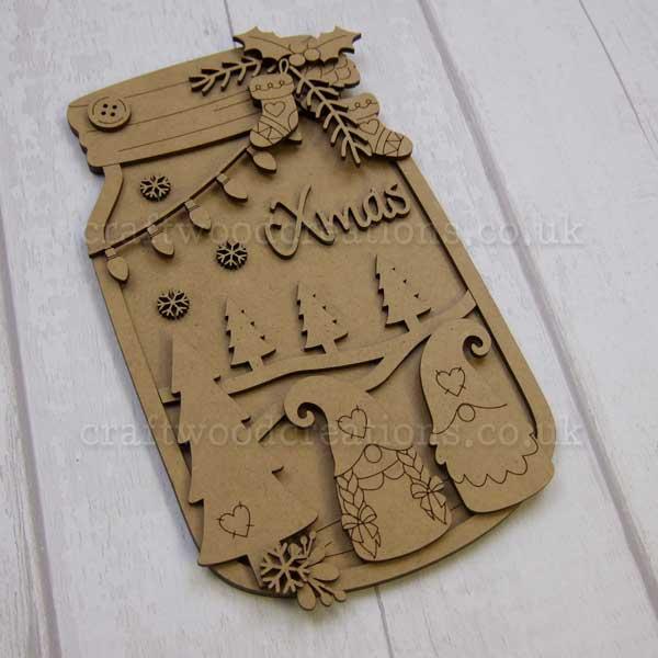 """Seasonals Collection Xmas Jar Plaque """"Xmas Tomte"""""""