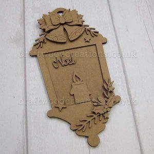 """Seasonals Collection Xmas Lantern Plaque """"Noel"""""""