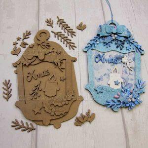 """Seasonals Collection Xmas Lantern Plaque """"Fairy"""""""