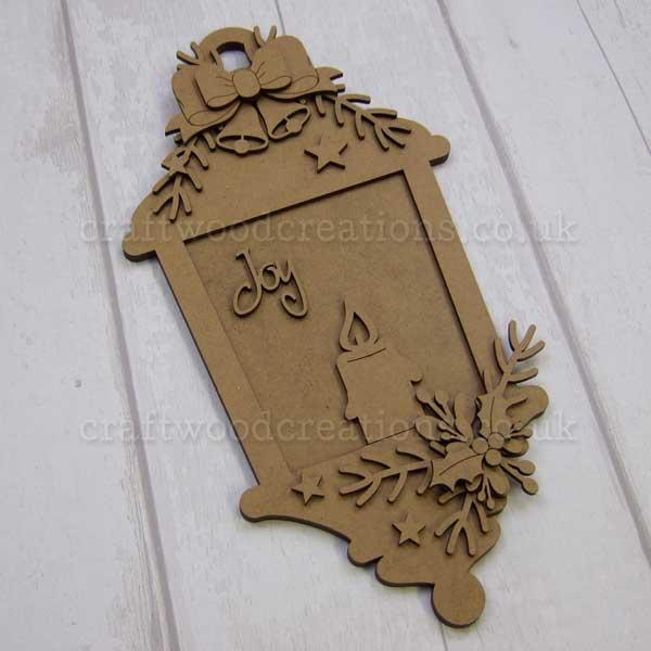 """Seasonals Collection Xmas Lantern Plaque """"Joy"""""""