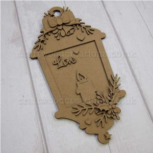 """Seasonals Collection Xmas Lantern Plaque """"Love"""""""