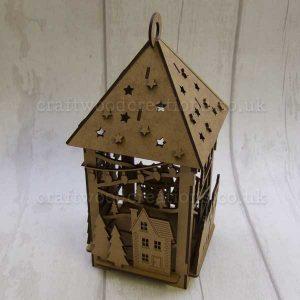 """Seasonals Collection Xmas 3D Lantern """"Xmas Village"""""""
