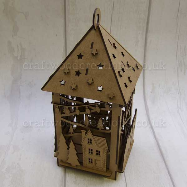 "Seasonals Collection Xmas 3D Lantern ""Xmas Village"""