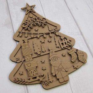 """Seasonals Collection Xmas Plaque Pack """"Santa"""""""