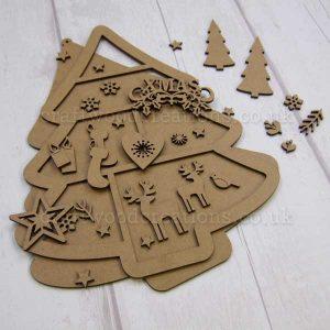 """Seasonals Collection Xmas Plaque Pack """"Xmas"""""""